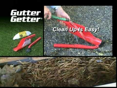 Gutter Getter Tools Make Gutter Cleaning Easy Youtube