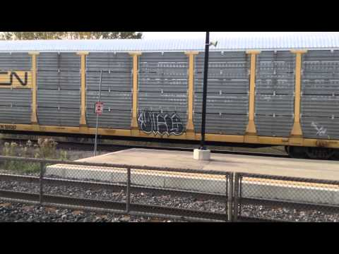 CN 554 EMD GP38-2 4784 GP9 4115 GO cab car 255 MP40PH-3C 617 Bronte GO October 30 2013
