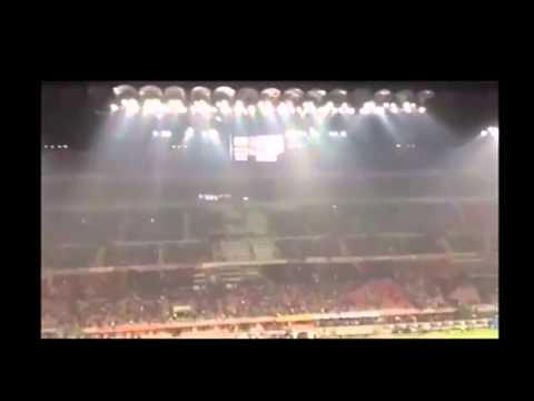Ac Milan Vs Fiorentina 0-2  cori Dalla Curva Sud