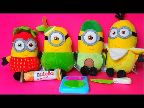 Funny Minions Despicable Me Toy Play Review Fruit and Vegetable Learning