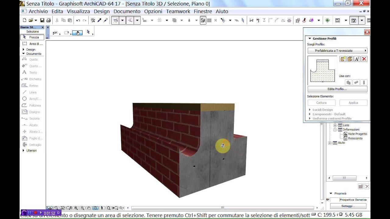 Archicad 17 nuovi materiali da costruzione tutorial parte for Lista punch per la costruzione di nuove abitazioni
