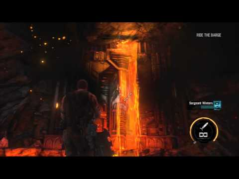 Red Faction Armageddon - Walkthrough - Part 11 - Ride the barge and find the queens lair!