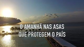 Esquadrão de Demonstração Aérea (EDA), também conhecido como Esquadrilha da Fumaça, sobrevoou os principais pontos da cidade carioca, em complemento a ação.