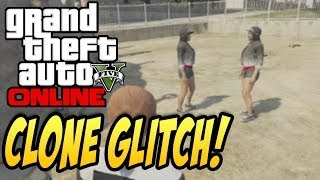 "GTAV Online: ""CLONE YOURSELF!"" DUPLICATE CHARACTER After Patch 1.09 - How to Clone Glitch Tutorial"