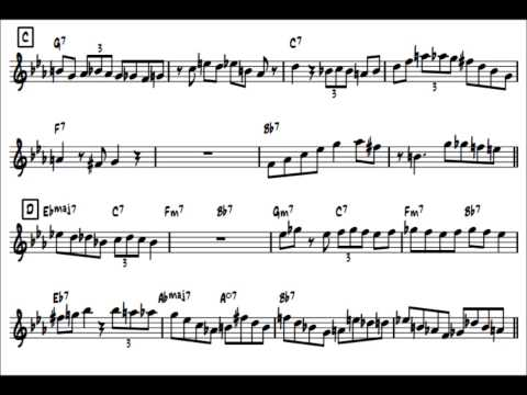 Wail(Master Take)/Bud Powell's Solo Transcription