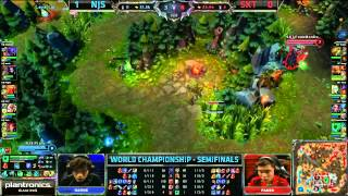 SKT T1 vs  NaJin Black Sword Game 2 - S3 WC Semi - SKT T1 vs NJS