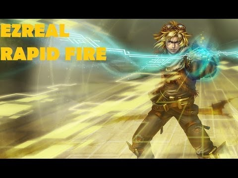 League of Legends Ezreal,Jinx,Ashe and Lux RAPID FIRE