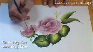 Curso pintura - Pintar rosas