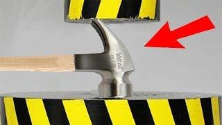 Experiment Hydraulic Press 200 Ton Vs Hammer Amazing Power | The Crusher
