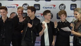 Raven interviews Why Don't We backstage at KDWB Jingle Ball 2017