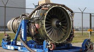 Big Aircraft Engines Starting Up