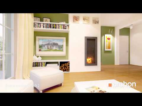 Dom w rododendronach 2- Wirtualny spacer po wnętrzu, projekt ARCHON+
