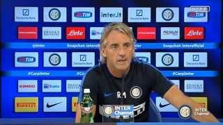 Live! Conferenza stampa Mancini prima di Carpi-Inter 29.8.2015 1600CEST