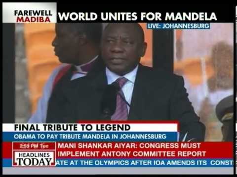 David Cameron, Sarkozy, Ban Ki-moon attend Mandela memorial