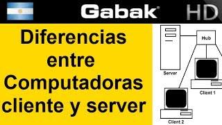 Diferencias entre servidores y clientes