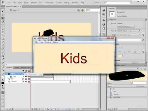 Flash Vid6: Using a Mask Layer
