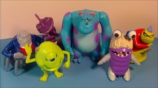 2001 DISNEY'S MONSTERS Inc. SET OF 6 McDONALD'S HAPPY MEAL