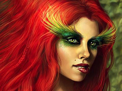 Poison Ivy Costume Make Up Tutorial for Halloween!