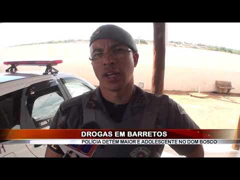 01/03/2019 - Equipe Canil detém um maior e um adolescente com drogas no Bairro Dom Bosco em Barretos