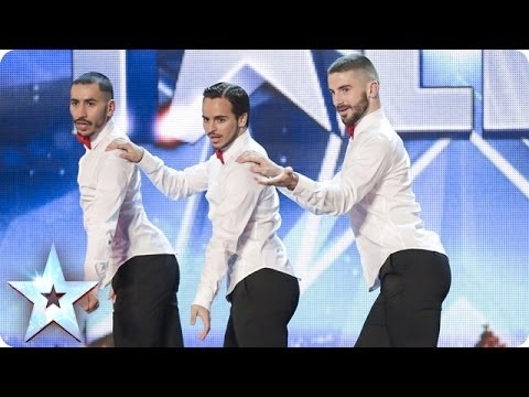 Yanis Marshall, Arnaud and Mehdi in their high heels spice up the stage| Britain's Got Talent 2014