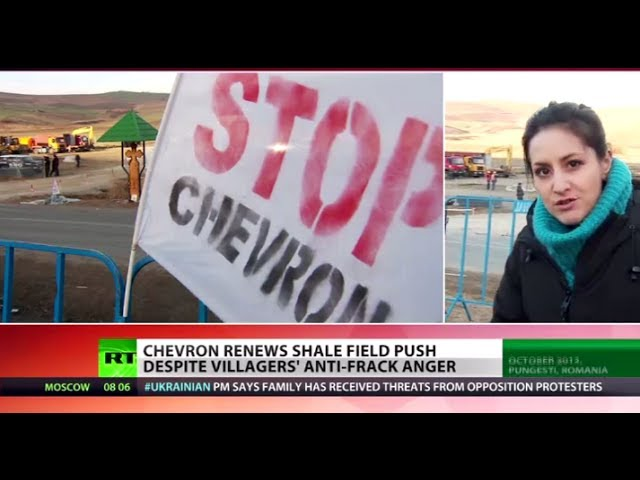 'Violence & Intimidation': Chevron fracking again in Romania despite local protests