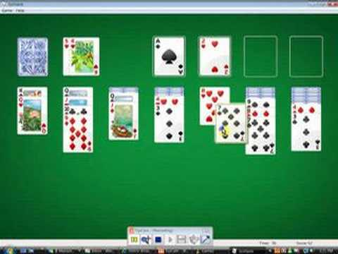 how to play solitaire video game