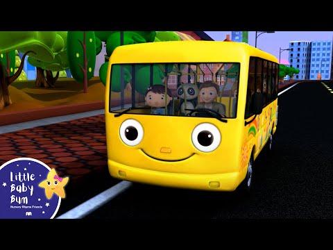 Wheels On The Bus | Part 1 | Nursery Rhymes | from LittleBabyBum!