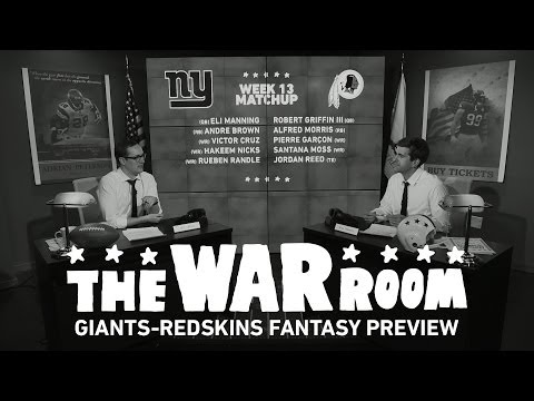 Giants vs Redskins Sunday Night Football Fantasy Preview - The War Room