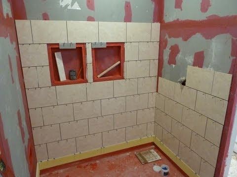 Tiling Shower Floor Steps