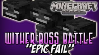 Minecraft (Xbox 360) Wither Boss Battle Mini Game Epic