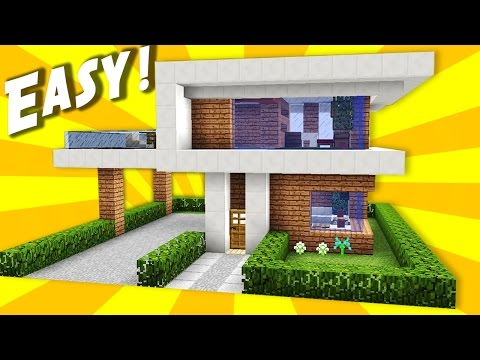 Minecraft pocket edition tutorial how to build a modern for Modern house mcpe 0 14 0