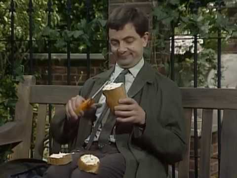 Mr Bean - Sandwich making -- Mr Bean - Stulle schmieren, OFFICIAL MR BEAN. Mr Bean heads to the park for his lunch and makes his sandwich. Brilliant scenes with Mr Bean washing lettuce in his sock and making tea in...