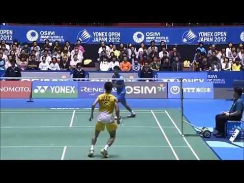 Badminton men's singles trickshots