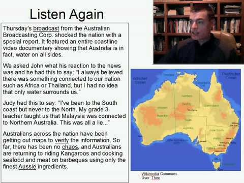 Intermediate Listening English Practice 18: NEWS: Australia is Actually an Island