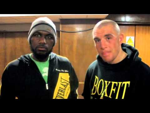 JOE MULLENDER & DIEGO BURTON CHAT TOGETHER AFTER THIER 10 ROUND WAR @ YORK HALL