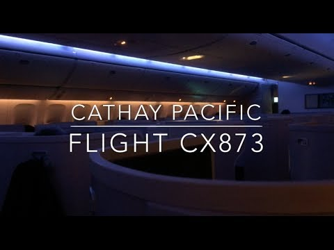 Flight report Cathay Pacific CX873 flight from San Francisco to Hong Kong (business class)