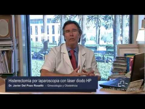 Histerectomía laparoscópica con láser diodo HP