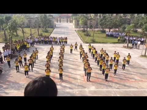 Nhảy dân vũ bài pokemon go trường THPT nam trực nam định