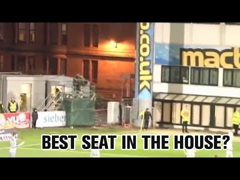 Fans watch Celtic win title from unique vantage point!