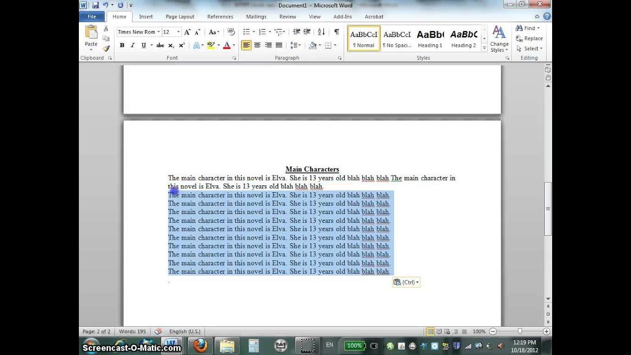 create a book report