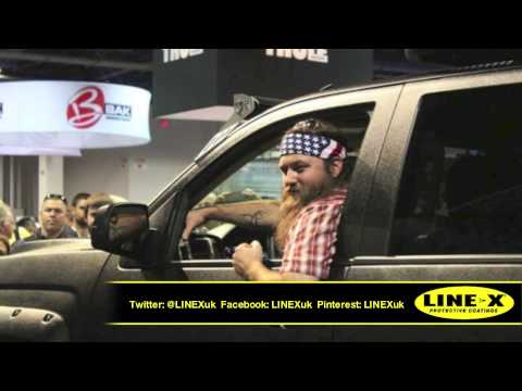 LINE-X Truck For Duck Dynasty Willie Robertson @ SEMA2013