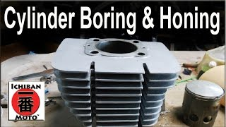 how to bore and hone motorcycle cylinders to  oversize and fit  pistons
