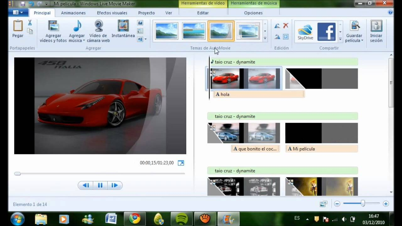 tutorial como usar windows live movie maker - YouTube