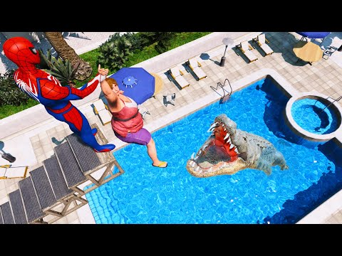 SPIDERMAN Water Ragdolls | GTA 5 Jumps/Fails #63 (Euphoria Physics | Funny Moments | Ragdoll)