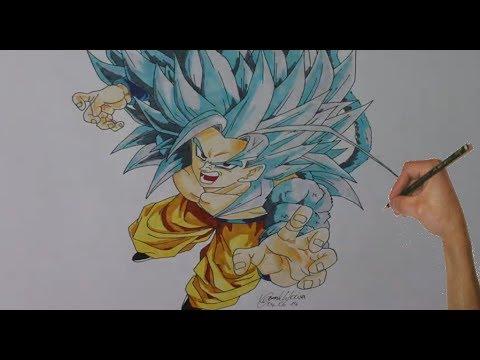 Sketching Son Goku Super Saiyajin 5 - Dragonball Z