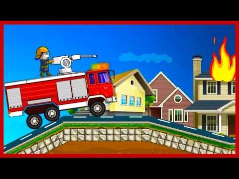 Кот Том моет пожарную машину Мультик про машинки
