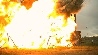 Huge Building Explosion at 2500fps - The Slow Mo Guys
