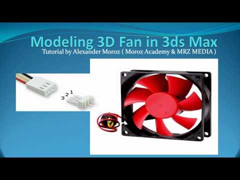 3D Modeling - Computer Fan Tutorial - Beginners - 3ds max - pt 1 of 16