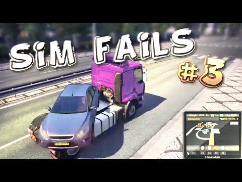 Simulation Games FAILS Compilation #3 (ETS2, ATS, OMSI2, BeamNG)