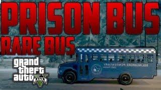 "GTA 5: ""PRISON BUS"" - How To Get The Prison Bus On Grand Theft Auto 5 (GTA V Tricks) - Super Rare"